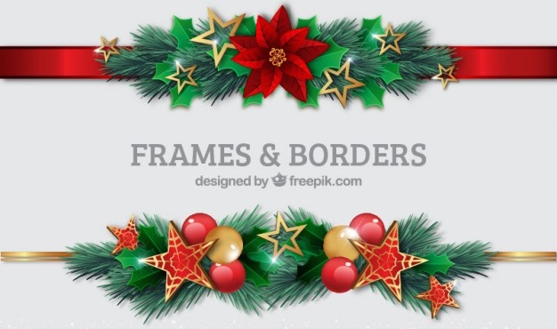 christmas-borders-set