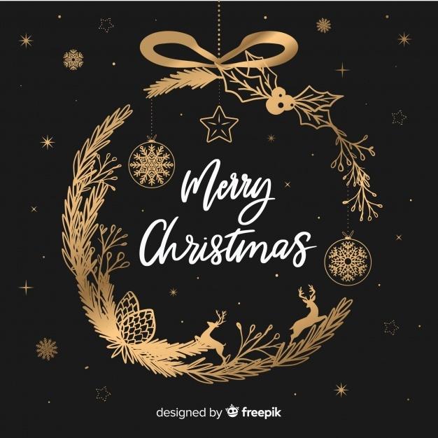 christmas wreath vector background