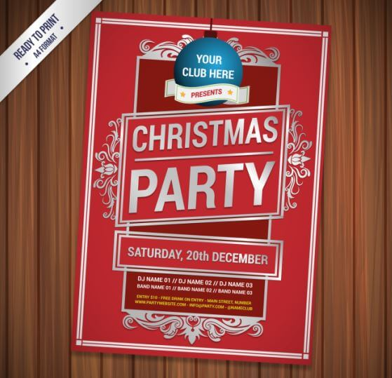 cmyk-red-christmas-party-flyer