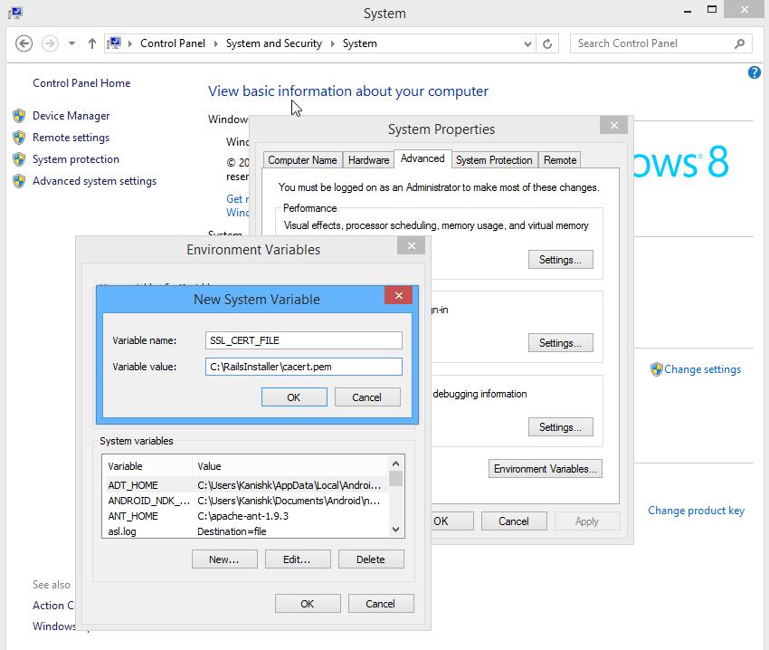 SSL Certificate on Windows
