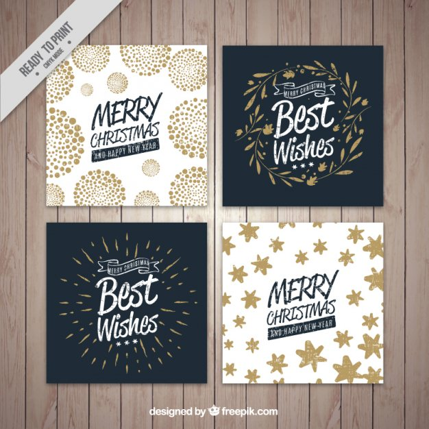 four-christmas-cards-collection