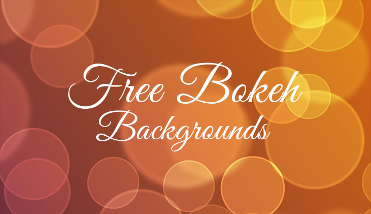free bokeh backgrounds set