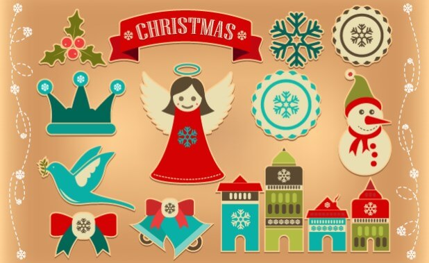 free-christmas-retro-icons-elements-illustrations-graphicloads
