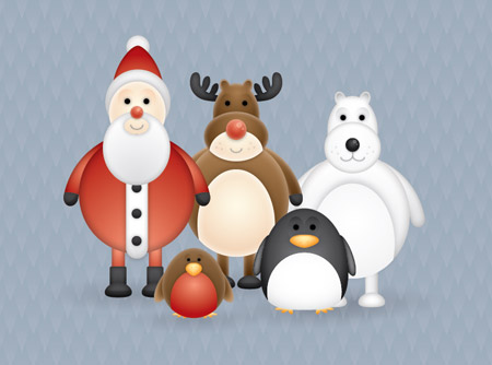free-christmas-themed-cute-vector-character-pack-spoongraphics
