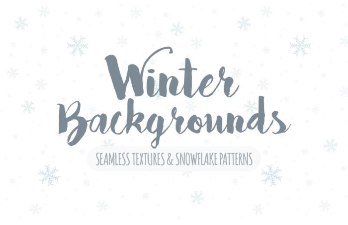 free seamless winter backgrounds