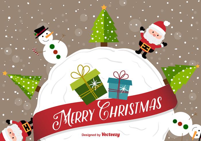 happy-christmas-cartoon-background-vector