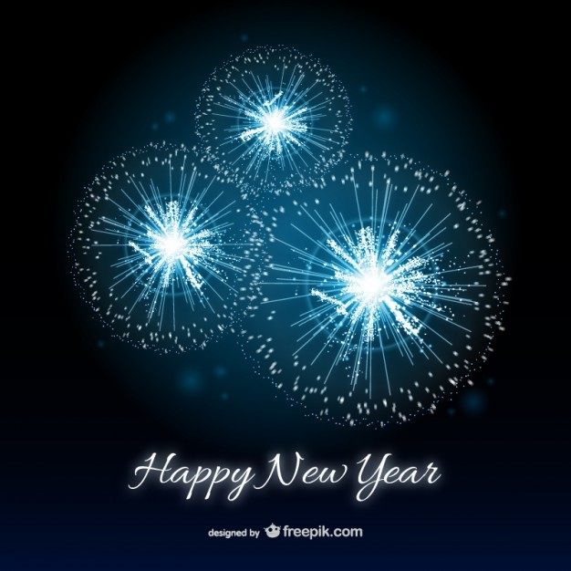free new year greetings templates happy new year card with fireworks