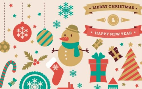 30+ Free Christmas Vector Graphics & Party Flyer Templates
