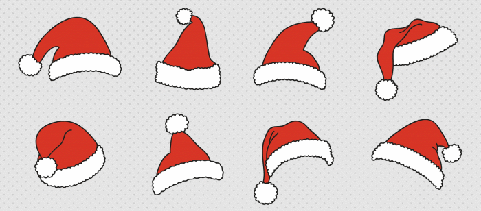 santa-claus-hats-vector-freepik