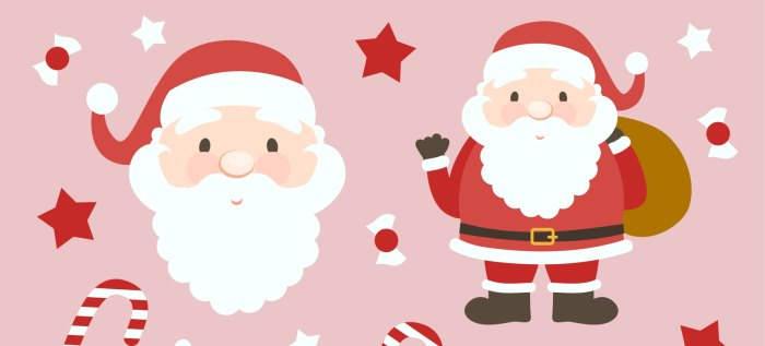 santa-claus-vector-cartoons-collection-freepik