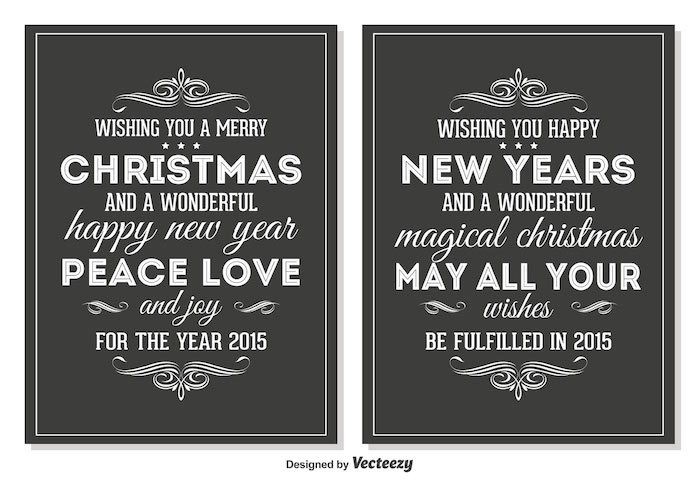 vector-chalkboard-style-retro-christmas-cards