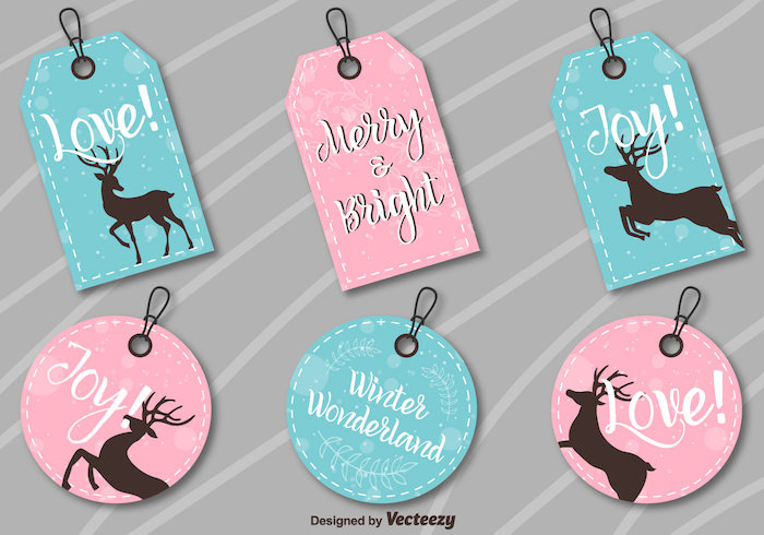 vector-christmas-labels