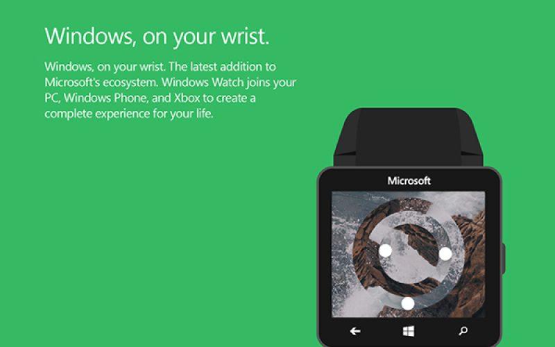Microsoft Smartwatch Concept Designs