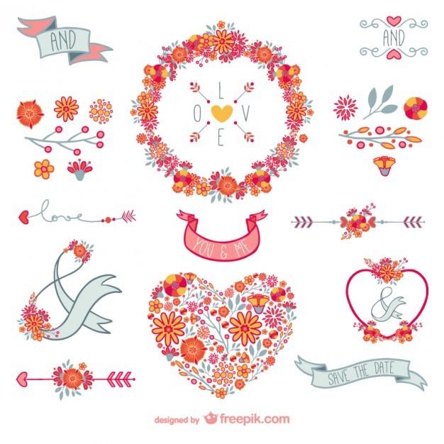 floral love decoration