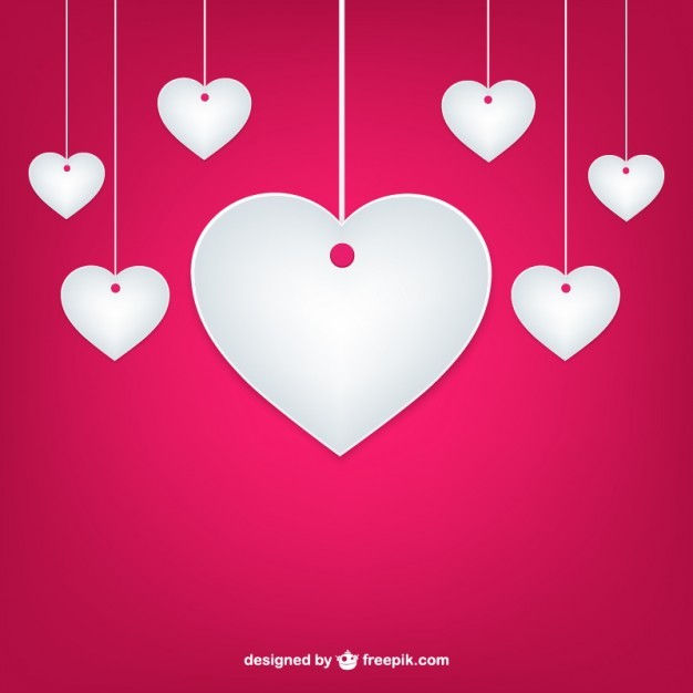 valentine paper hearts