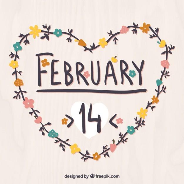 february 14 heart