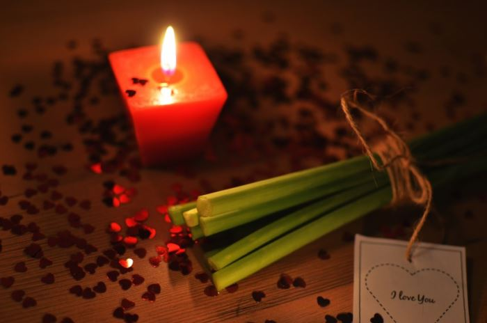 candlelight love romantic