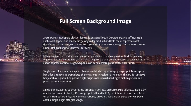 Full-Screen background image in web design