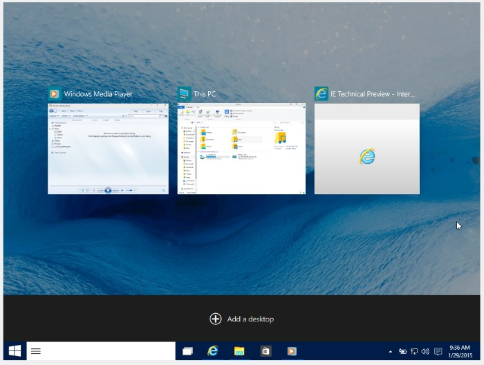 windows 10 multiple desktop