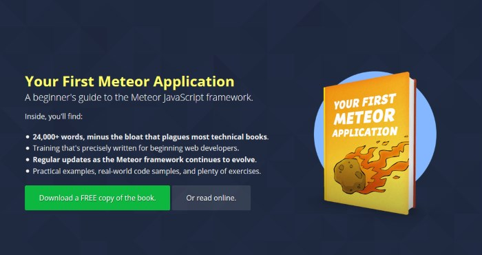 Javascript pdf meteor.js started framework with getting