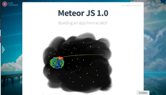 App from Scratch with MeteorJS