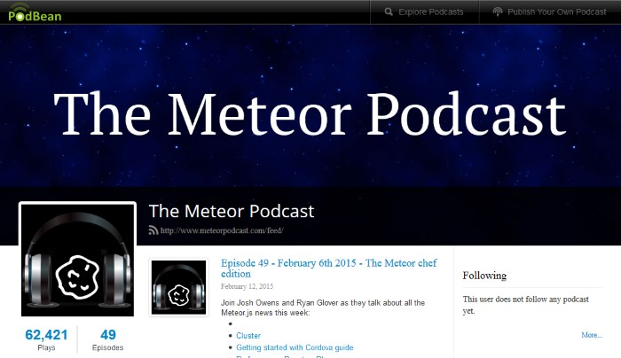 The Meteor Podcast