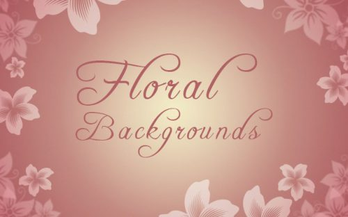5 Free Floral Backgrounds in Beautiful Colors