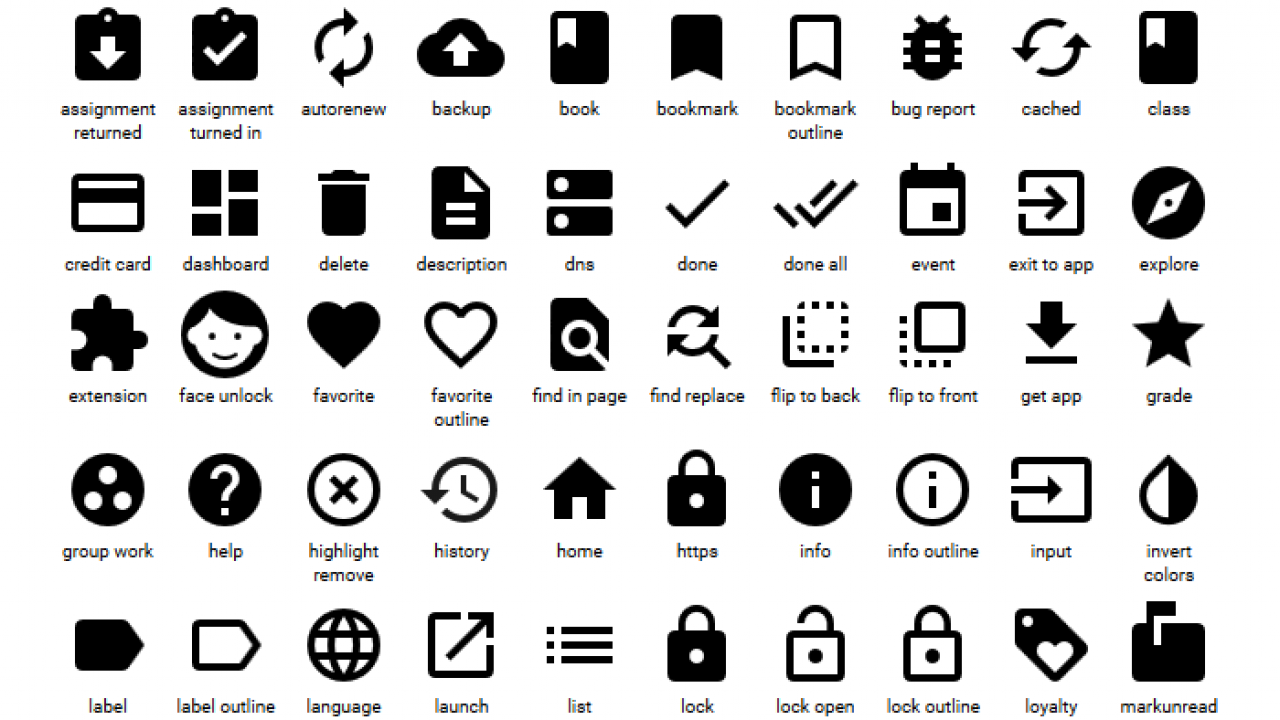 6 Free Material Design Icon Packs - Super Dev Resources