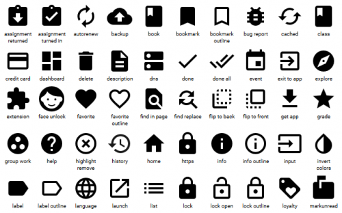 6 Free Material Design Icon Packs