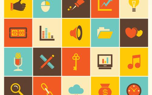 45 Free Retro Web Icons – PSD, AI & EPS