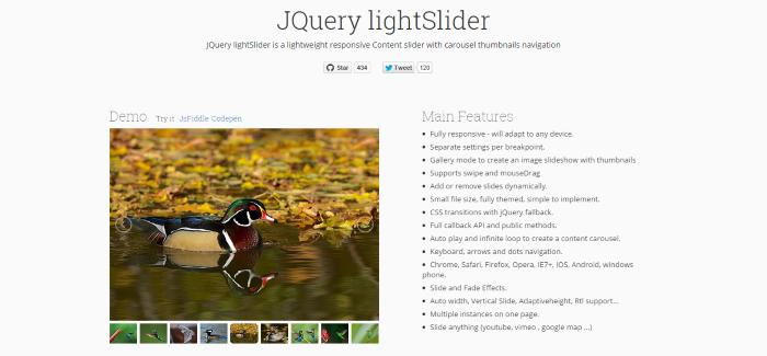 JQuery lightSlider