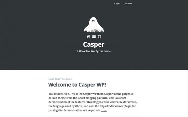 casper ghost inspired theme