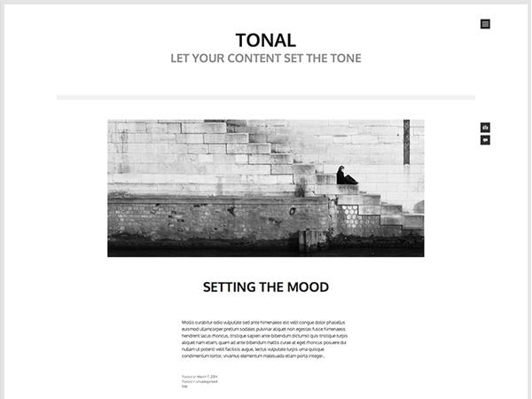 tonal wordpress theme