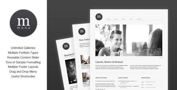 mono minimal wordpress theme