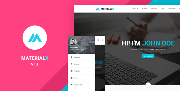 25  free material design html5 templates available for