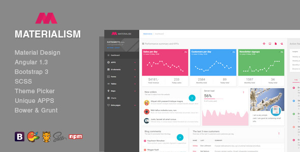 30 material design html5 templates available for download for Admin template free download in php
