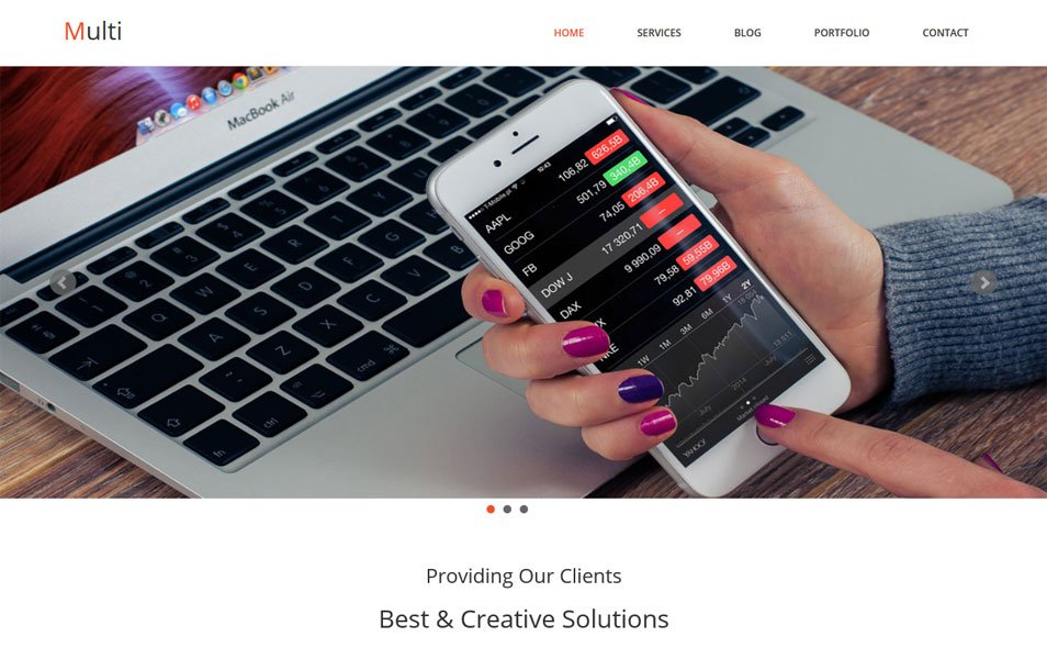 Free Responsive HTML & CSS templates for mobile friendly