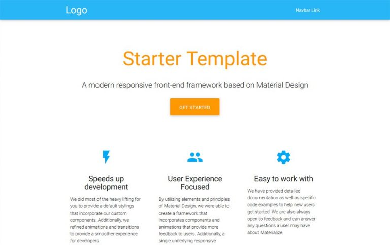 30+ Material Design HTML5 Templates Available for Download