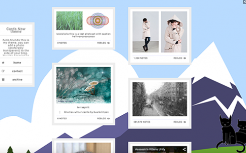 Best Material Design Tumblr Themes for Free Download