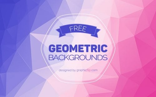 5 Free Colorful Geometric Backgrounds