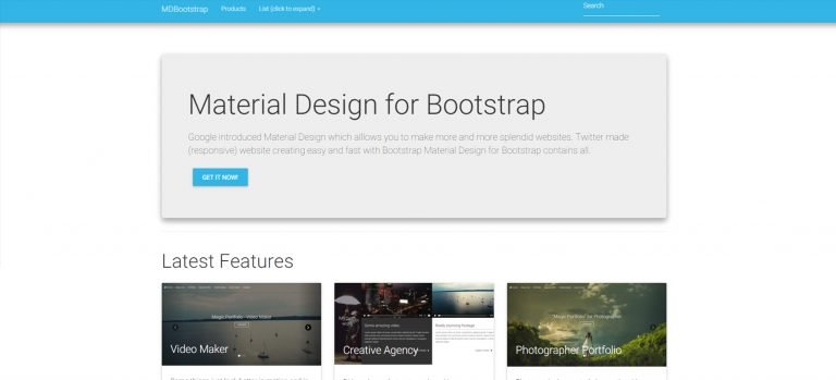 30 Material Design Html5 Templates Available For Download Free