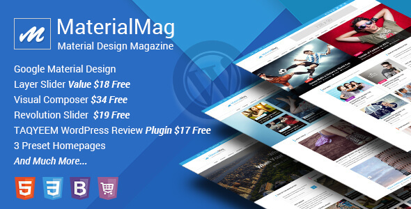 30 material design wordpress themes for free download premium