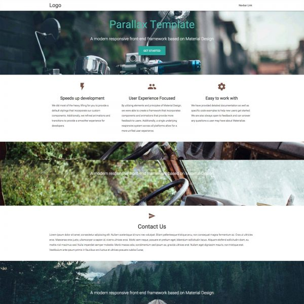 html5 parallax scrolling template free - 30 material design html5 templates available for download