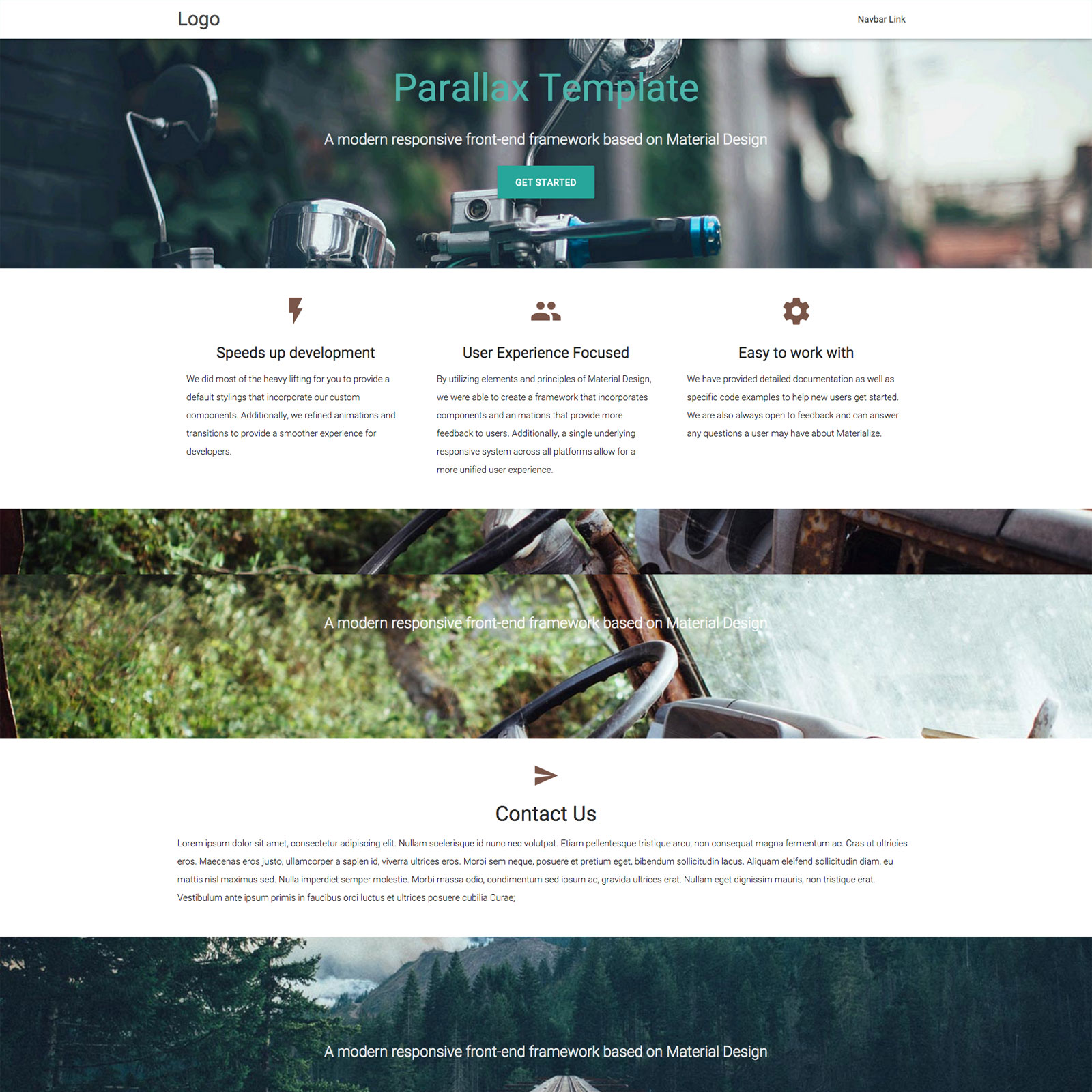 30+ Material Design HTML5 Templates Available for Download (Free ...