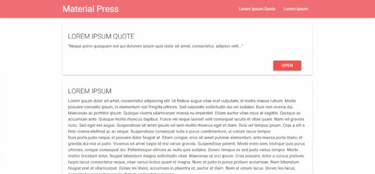 material press