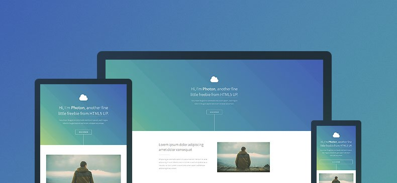 photon is a free responsive html5css3 template from html5 u featuring clean layout and a corporate style look it is available under creative commons