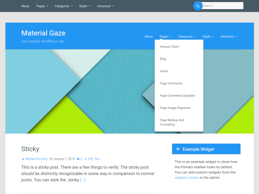 30+ Material Design WordPress Themes for Free Download