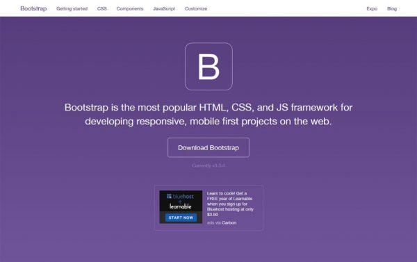 Bootstrap responsive web design frameworks