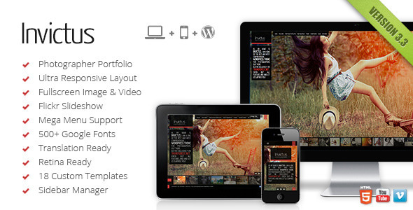 Invictus Photography Theme