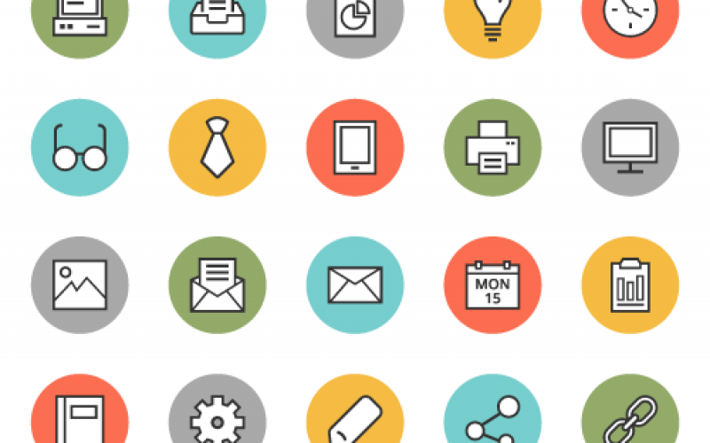 35 Free Office Icons – PSD, AI & EPS